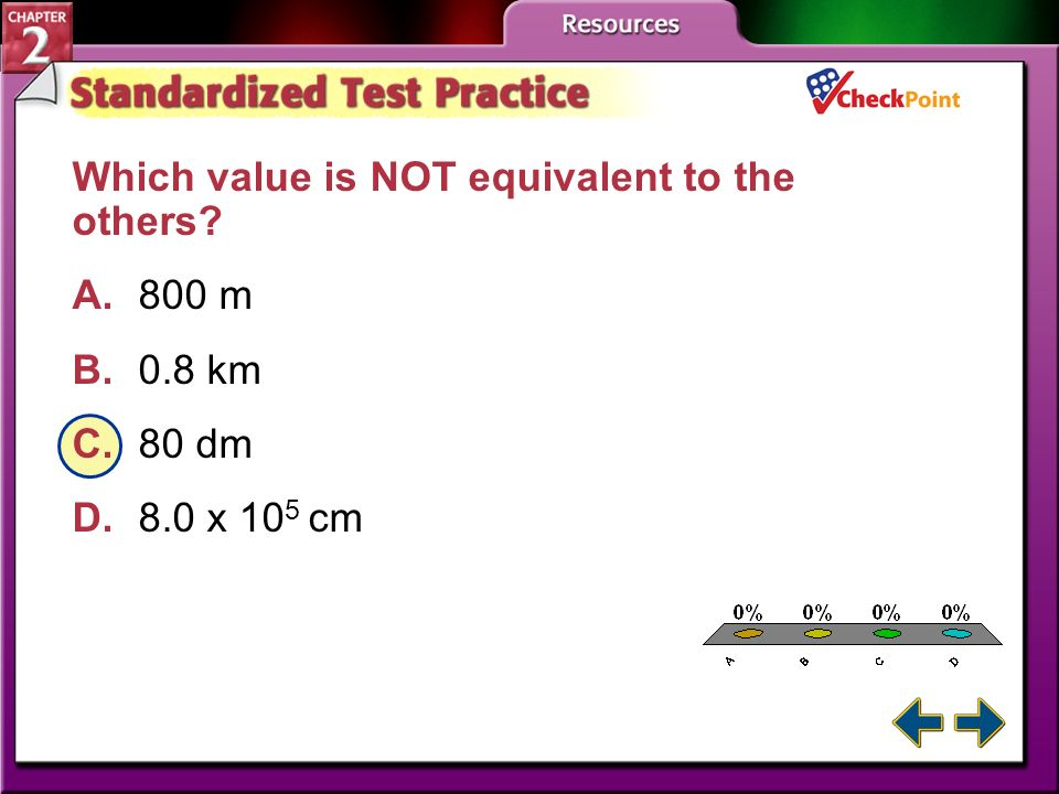 A.A B.B C.C D.D STP 1 Which is NOT an SI base unit? A.meter B.second C.liter D.kelvin
