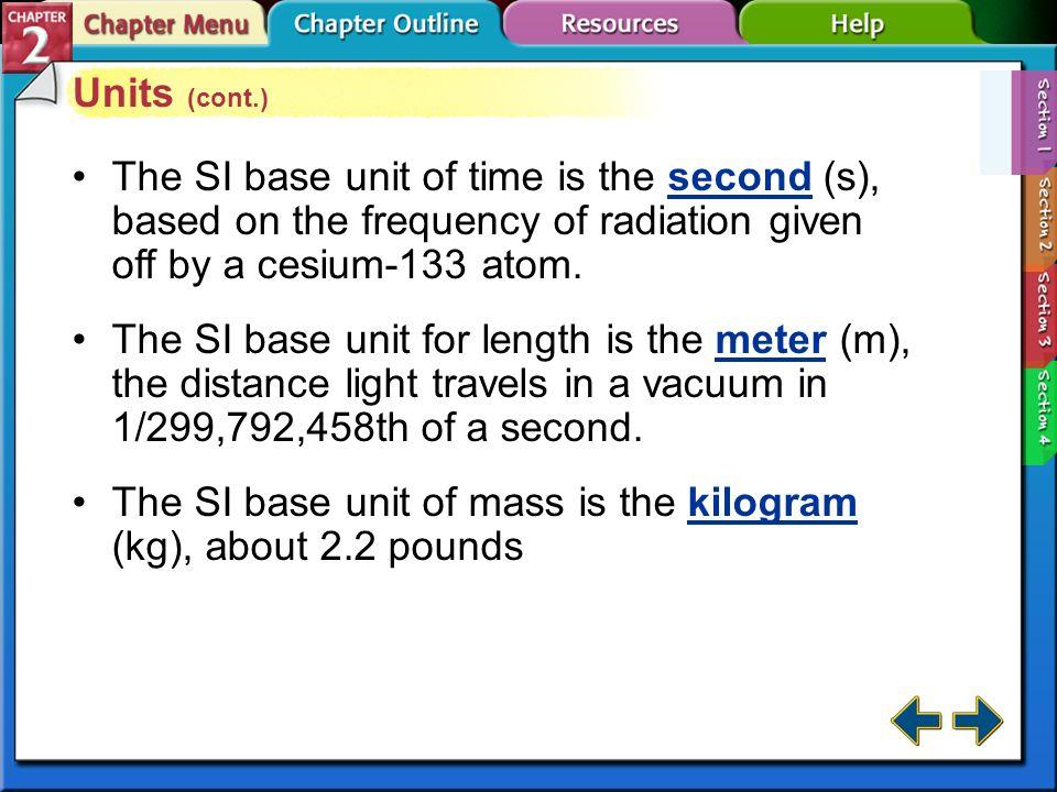 Section 2-1 Units (cont.)