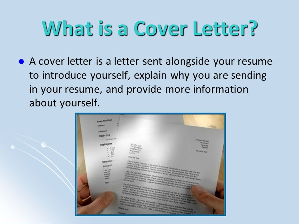 Whats the Point of a Cover Letter.