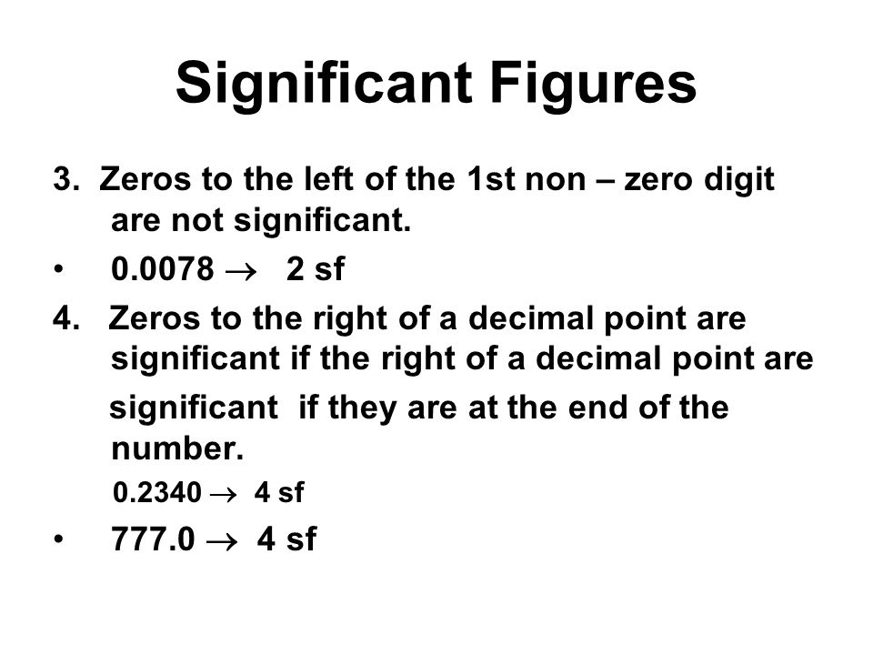 Significant Figures 5.