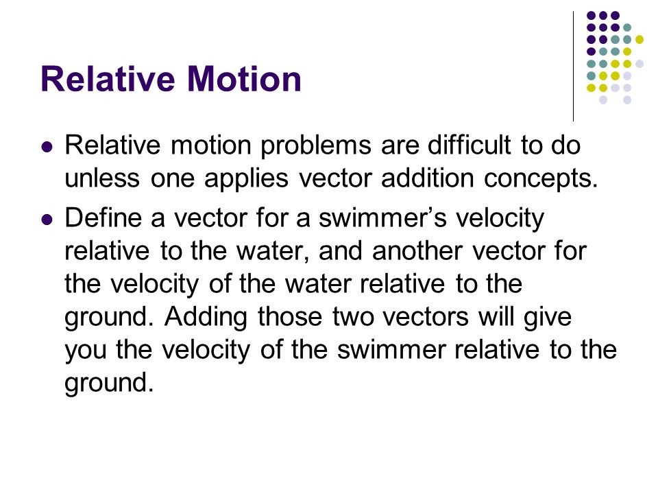 Vectors Relative Motion September 2013