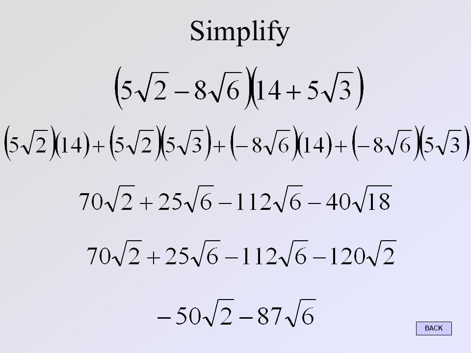 Simplify – You Try BACK