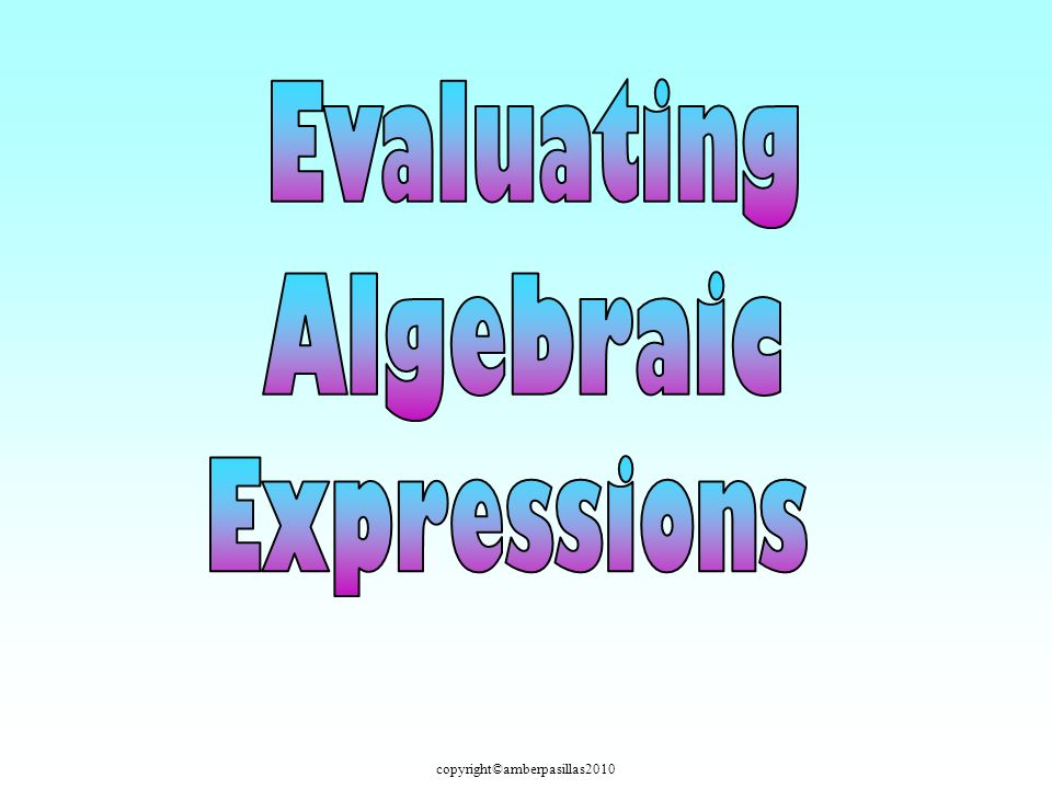copyright©amberpasillas2010 Evaluate the algebraic expression when n = 8. 1)2)