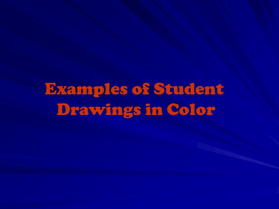 Examples of Student Drawings in Color