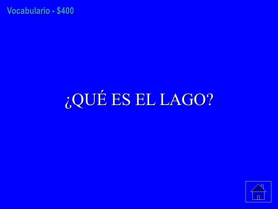 Vocabulario - $300 ¿QUÉ ES EL ESQUÍ AQUATICO