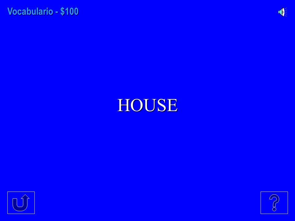 VocabularioPronombresVerbos Traduzca al español Conteste en español $100 $300 $200 $400 $500