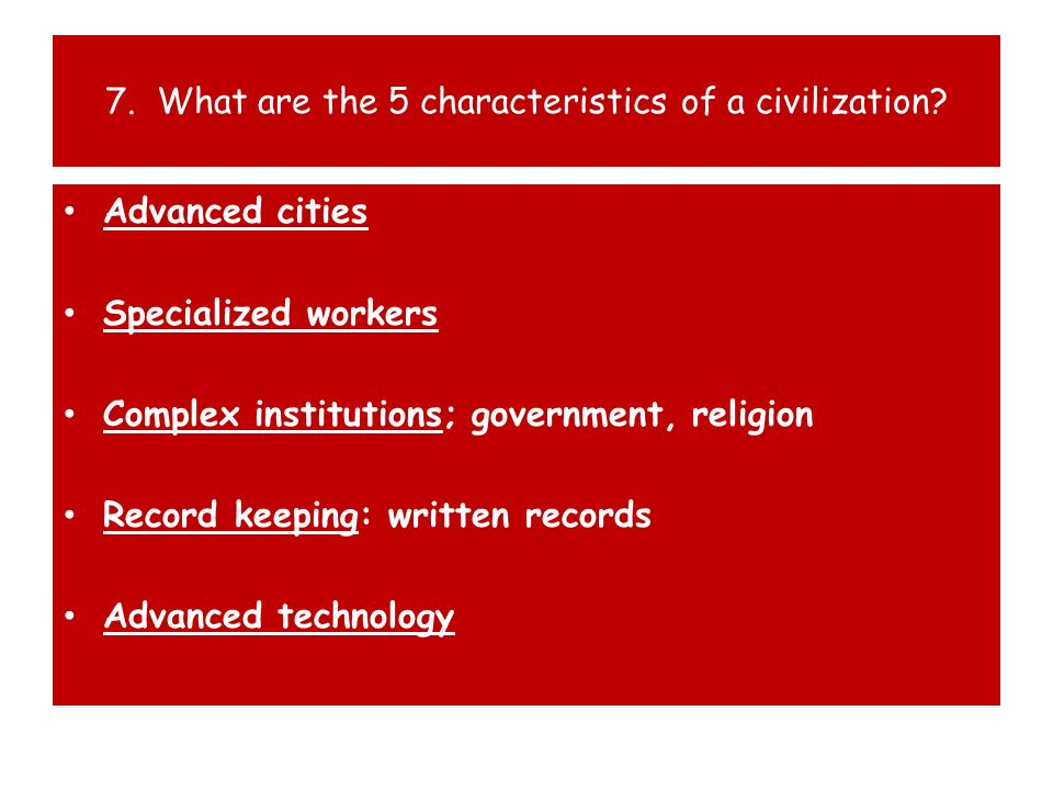 8.What things distinguish a village from a city.