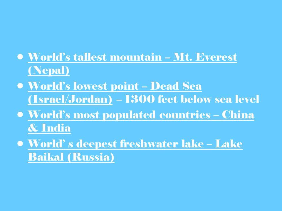 Worlds tallest mountain – Mt.