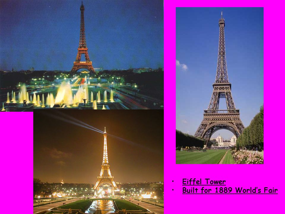 Eiffel Tower Built for 1889 Worlds Fair