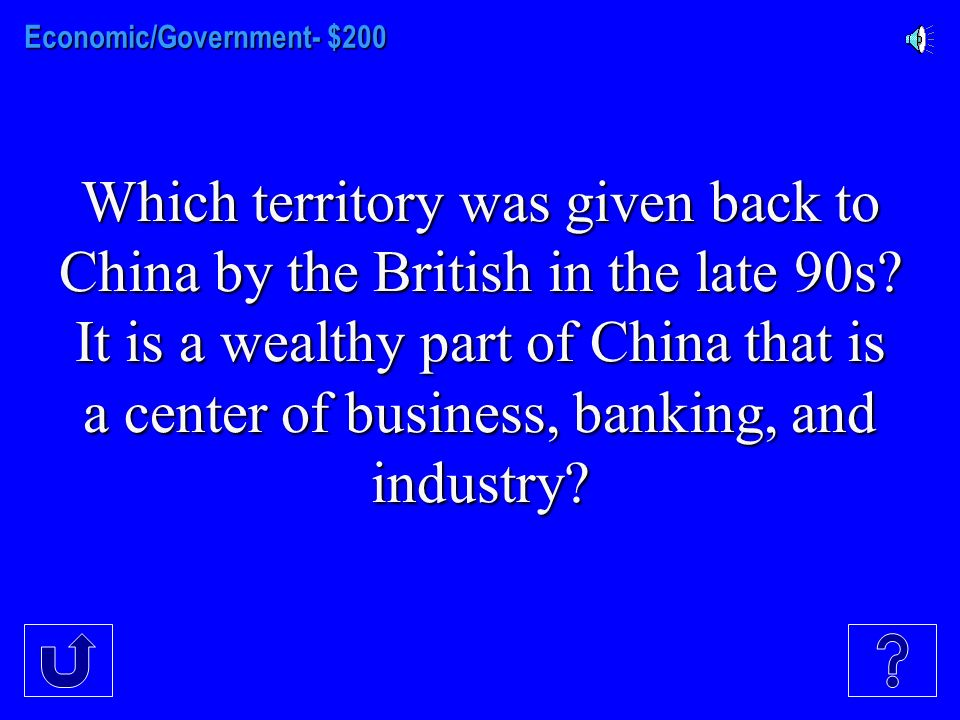 Econ/Government- $100 Econ/Government- $100 Type of government found in Japan since WW II ended that America helped set up as part of the rebuilding f