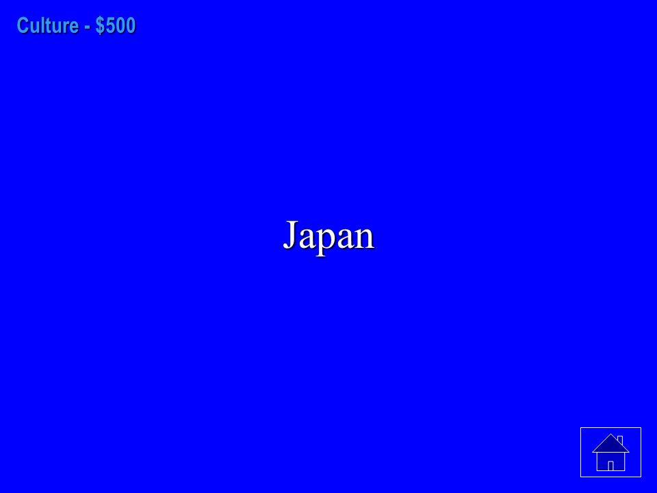 Culture - $400 Buddhism