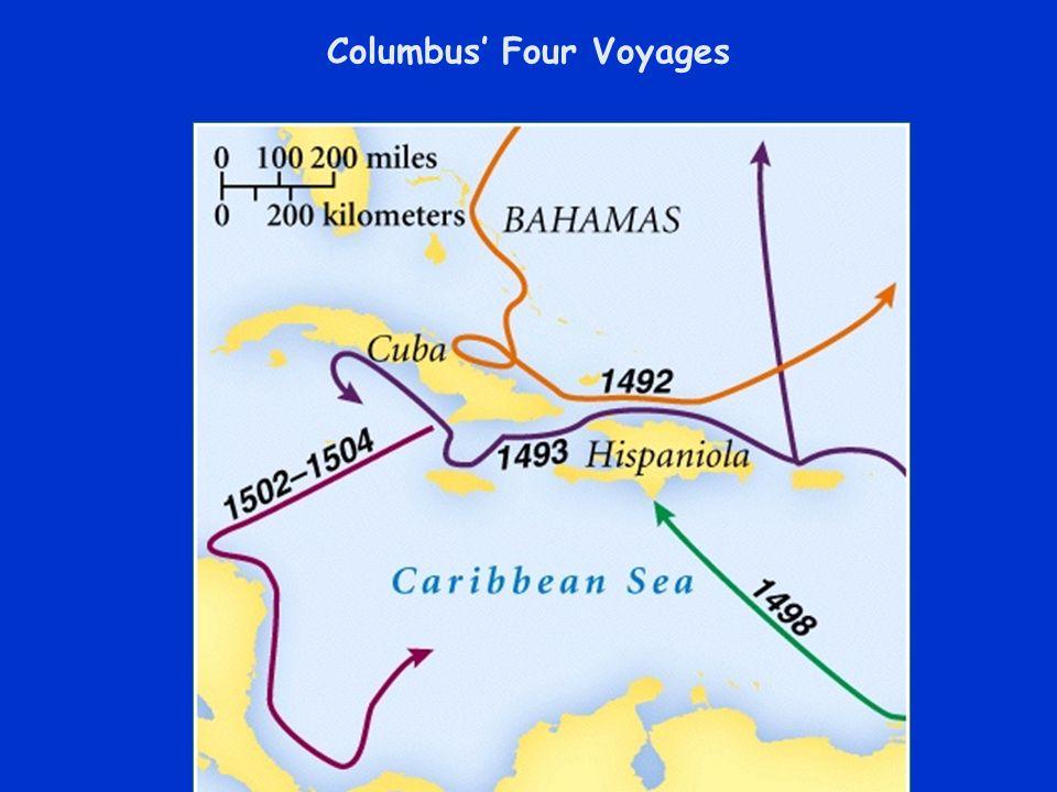 Columbus Four Voyages