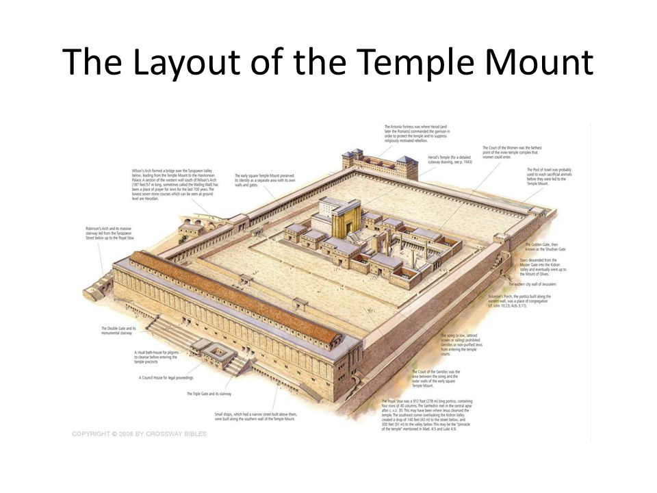 The Layout of the Temple Mount