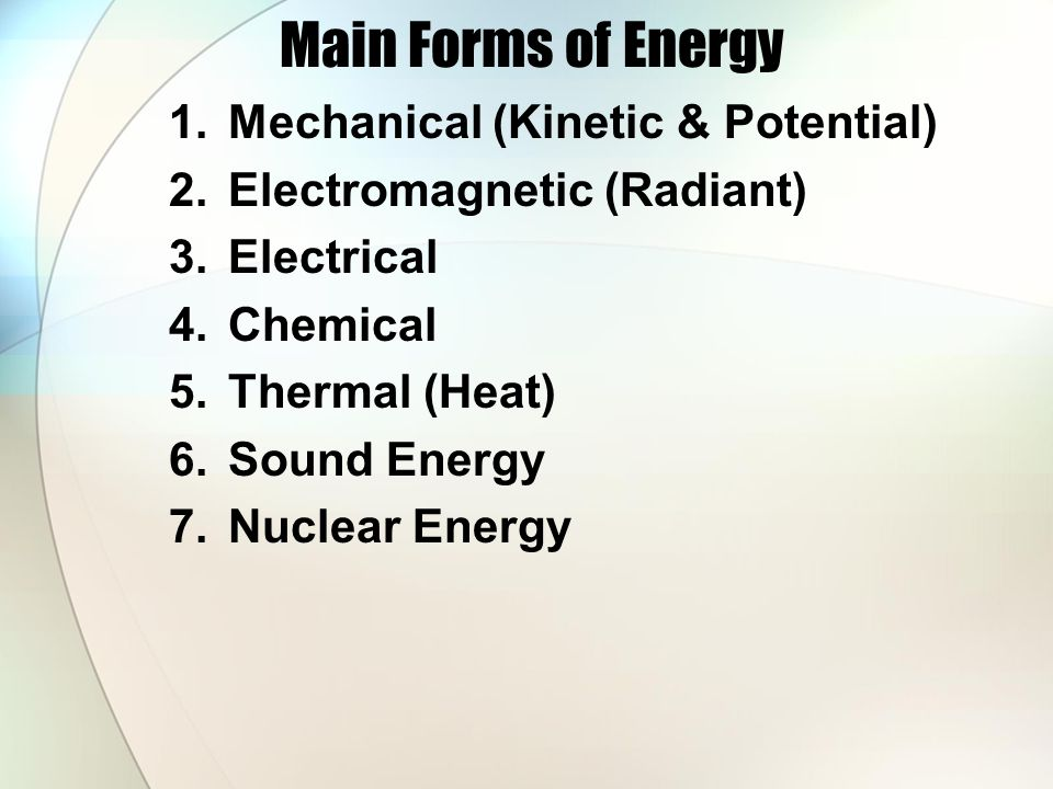 What is Energy Energy can be defined as the ability to do work. Whenever work is done, energy is transformed or is transferred from one system to anot