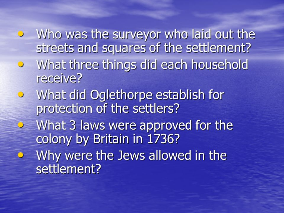 Who was the surveyor who laid out the streets and squares of the settlement? Who was the surveyor who laid out the streets and squares of the settleme