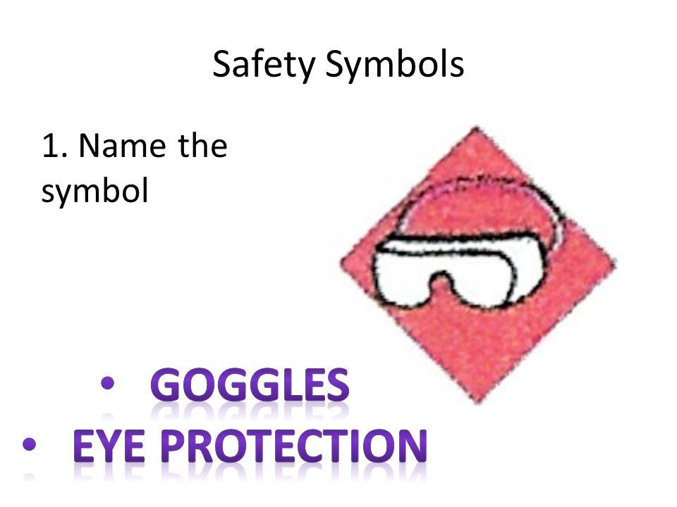 Safety Symbols 1. Name the symbol