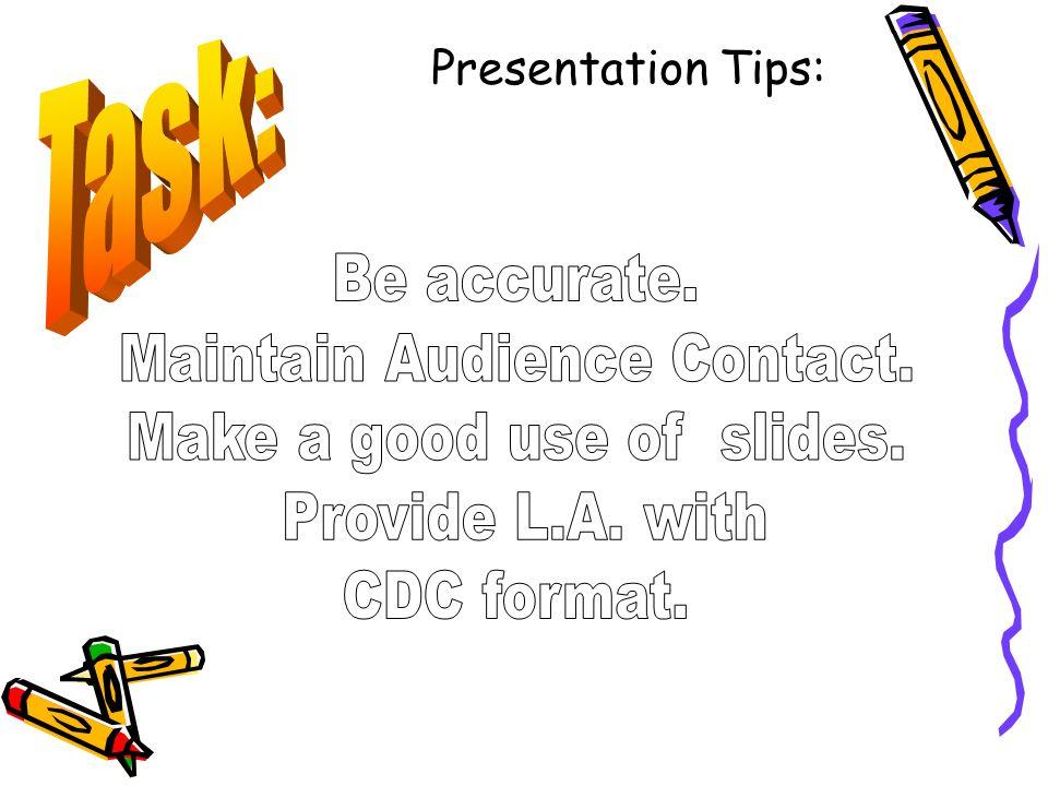 Presentation Tips: