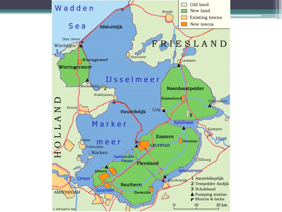Polders good and bad results Very fertile land Used for growing many crops Much of the land is below sea level Strong storms can flood area with saltwater