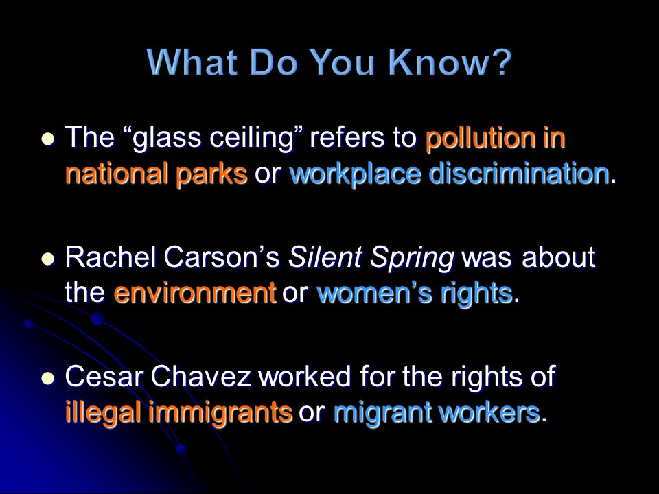 The glass ceiling refers to pollution in national parks or workplace discrimination. The glass ceiling refers to pollution in national parks or workpl