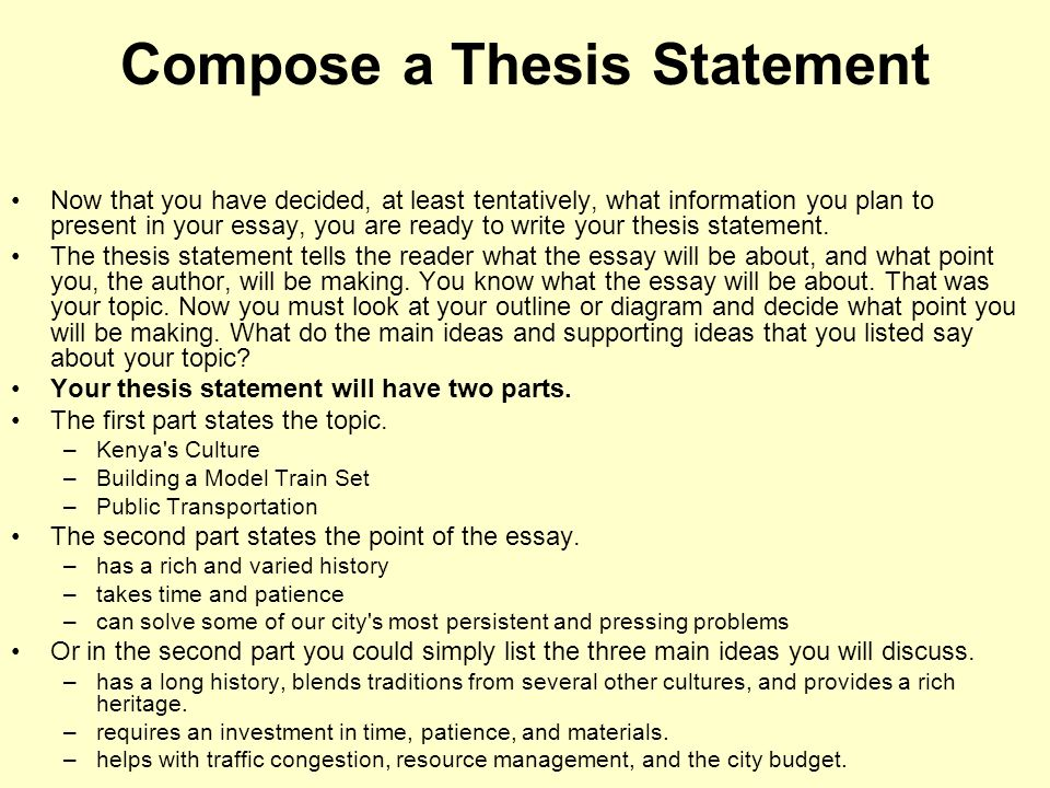 The ESOL Essayist- How do we write a thesis statement?