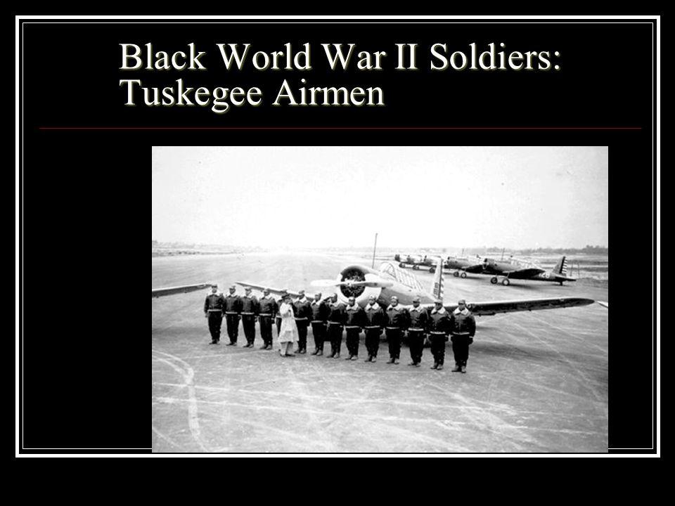 Black World War II Soldiers: Tuskegee Airmen