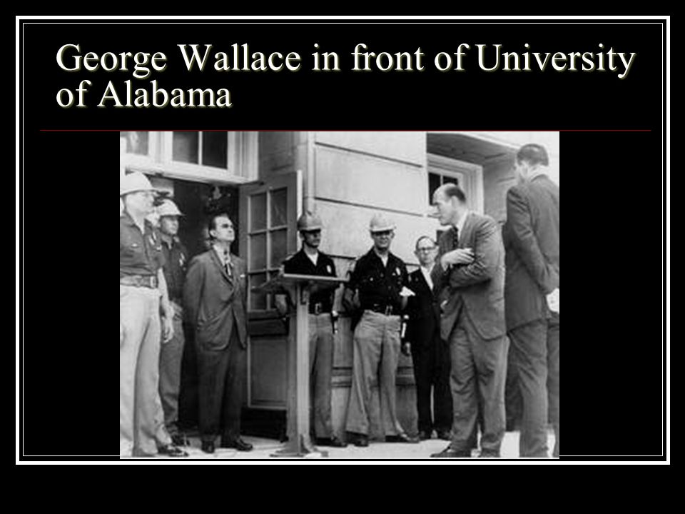 George Wallace in front of University of Alabama