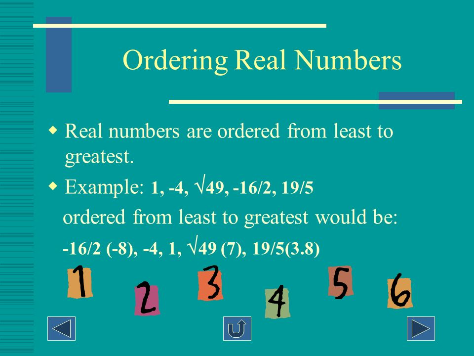 Practice 4 (subsets of real numbers) -6 is what kind of number? A B C D Real/rational/integer Real/irrational Real/rational Real/rational/integer/ who