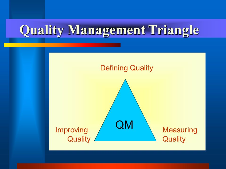 The Quality Management Process The process by which findings and results of activities will be communicated to and used by the QM Committee to identify problems and successes and to improve services must be clearly identified and defined.