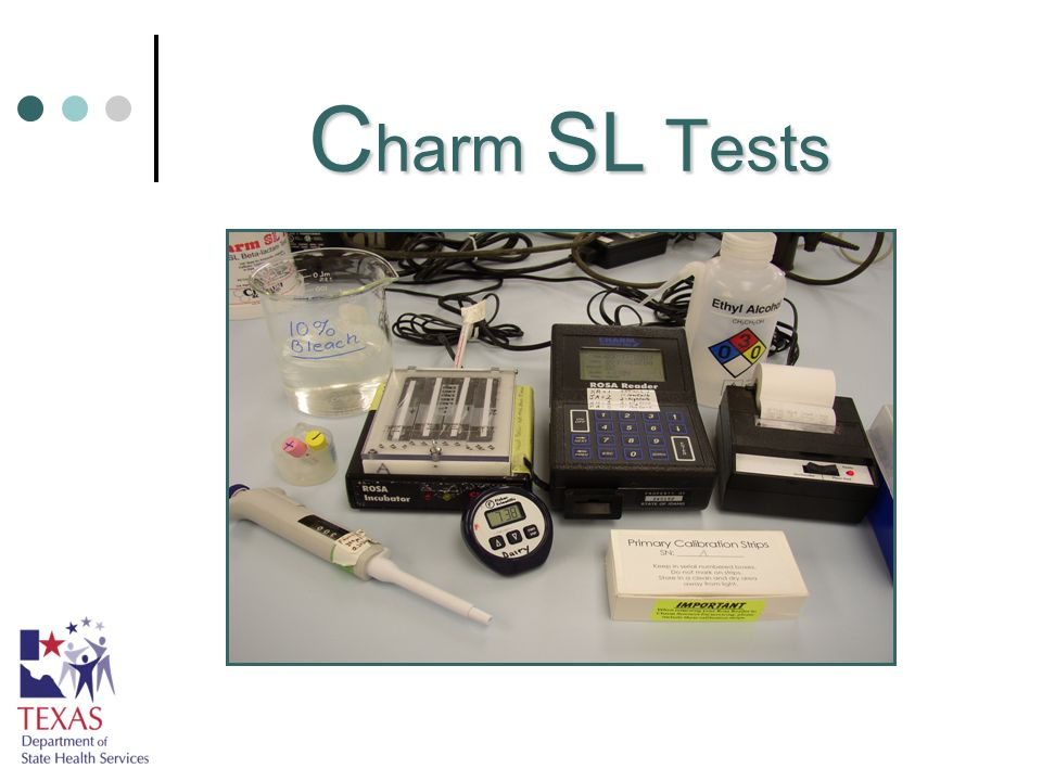 F resh N egative C ontrols Obtain a raw milk sample from a silo/tanker/holding tank that has been pre-tested as NF with the Charm SL test kit.