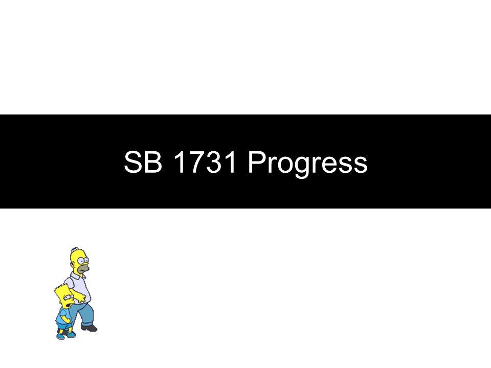 SB 1731 Progress
