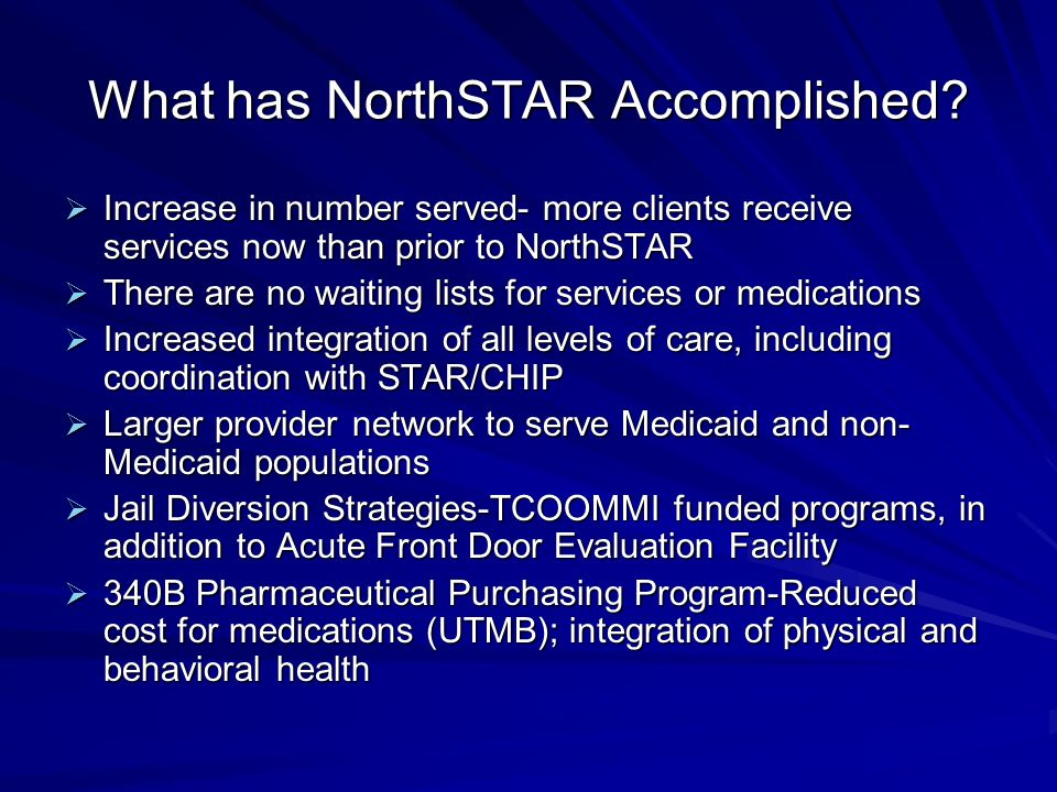 What has NorthSTAR Accomplished.