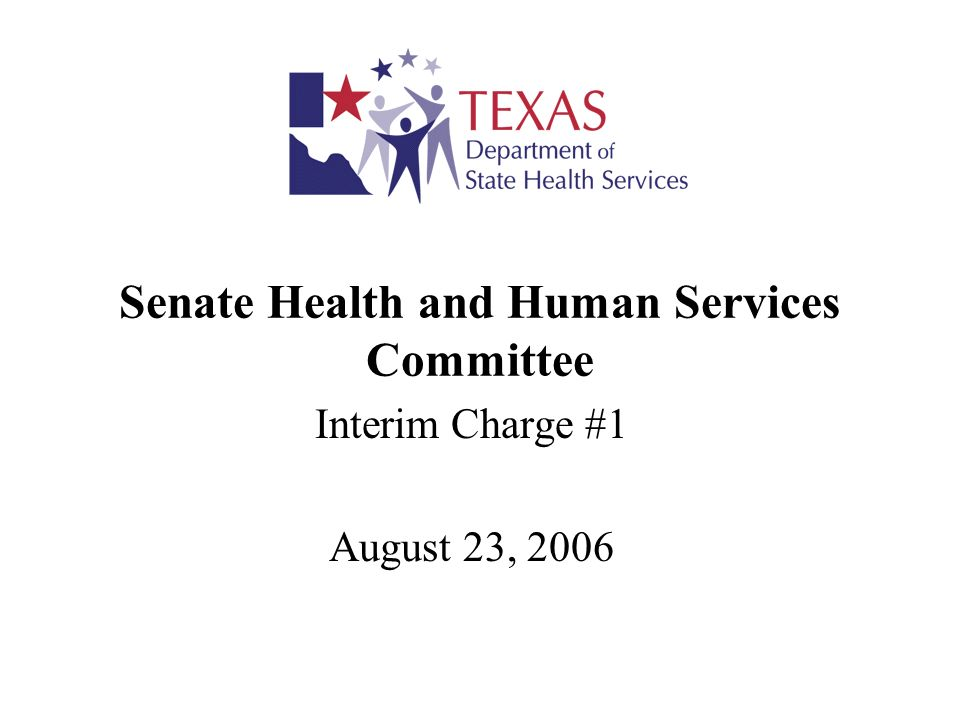 Senate Health and Human Services Committee DSHS Presentation August 23, 200612 Crisis Services Redesign February 2006, DSHS established the Crisis Services Redesign Committee to develop recommendations for a comprehensive array of crisis services.
