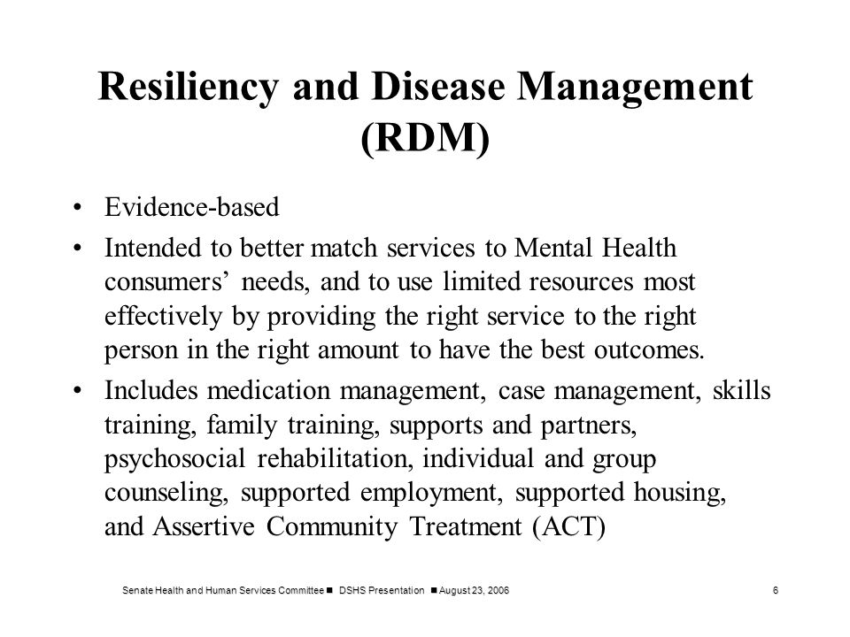 Senate Health and Human Services Committee DSHS Presentation August 23, 200617 Behavioral Health Integrated Provider System (BHIPS) First statewide development of an electronic health record in the United States.
