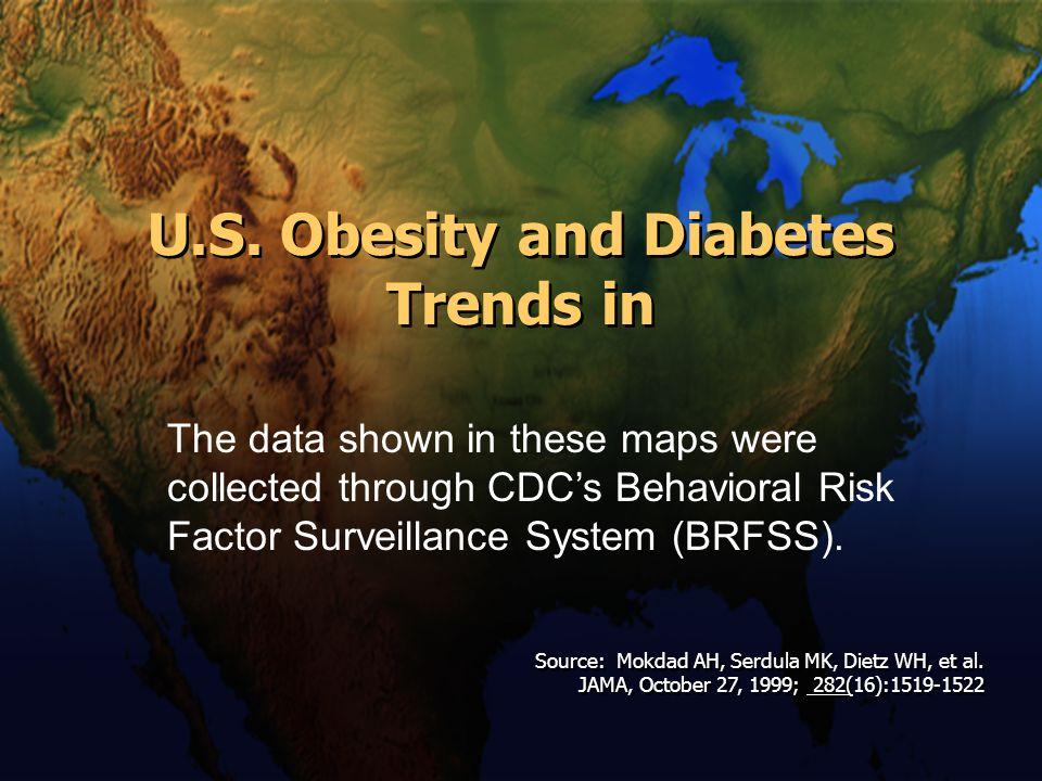 U.S. Obesity and Diabetes Trends in Source: Mokdad AH, Serdula MK, Dietz WH, et al. JAMA, October 27, 1999; 282(16):1519-1522 Source: Mokdad AH, Serdu