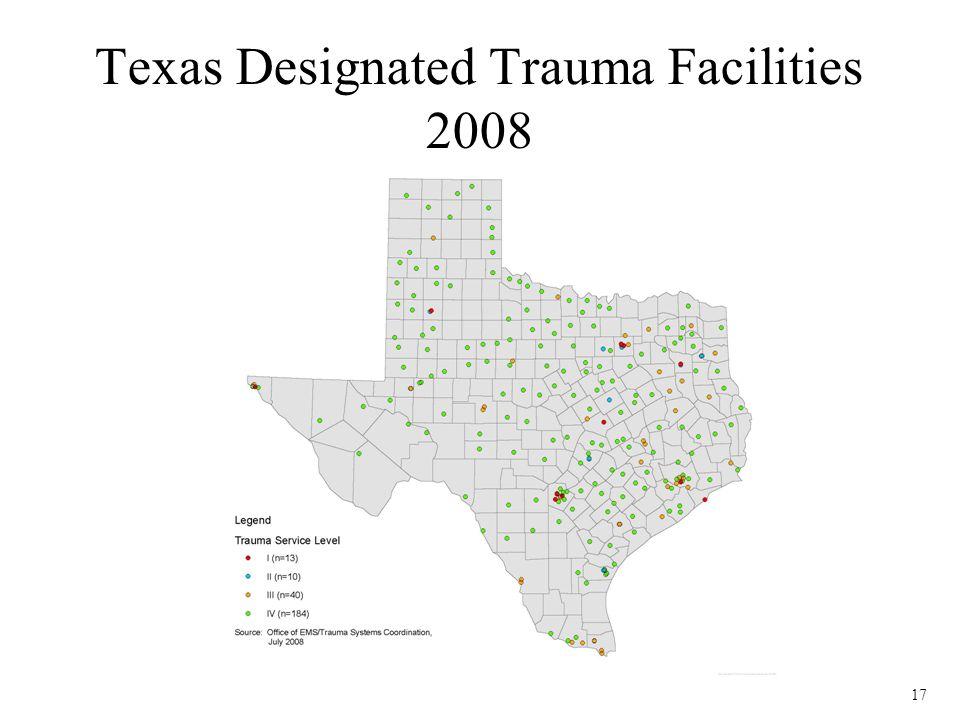 17 Texas Designated Trauma Facilities 2008