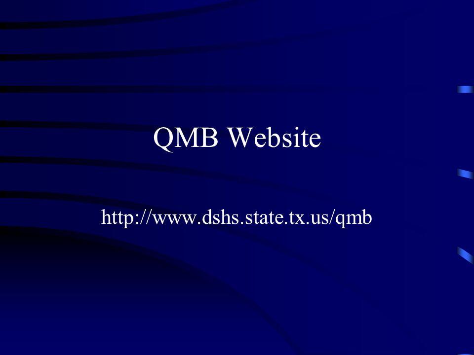 QMB Website http://www.dshs.state.tx.us/qmb