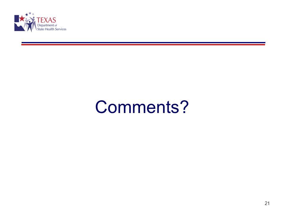 Comments 21