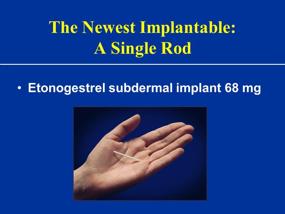 The Newest Implantable: A Single Rod Etonogestrel subdermal implant 68 mg
