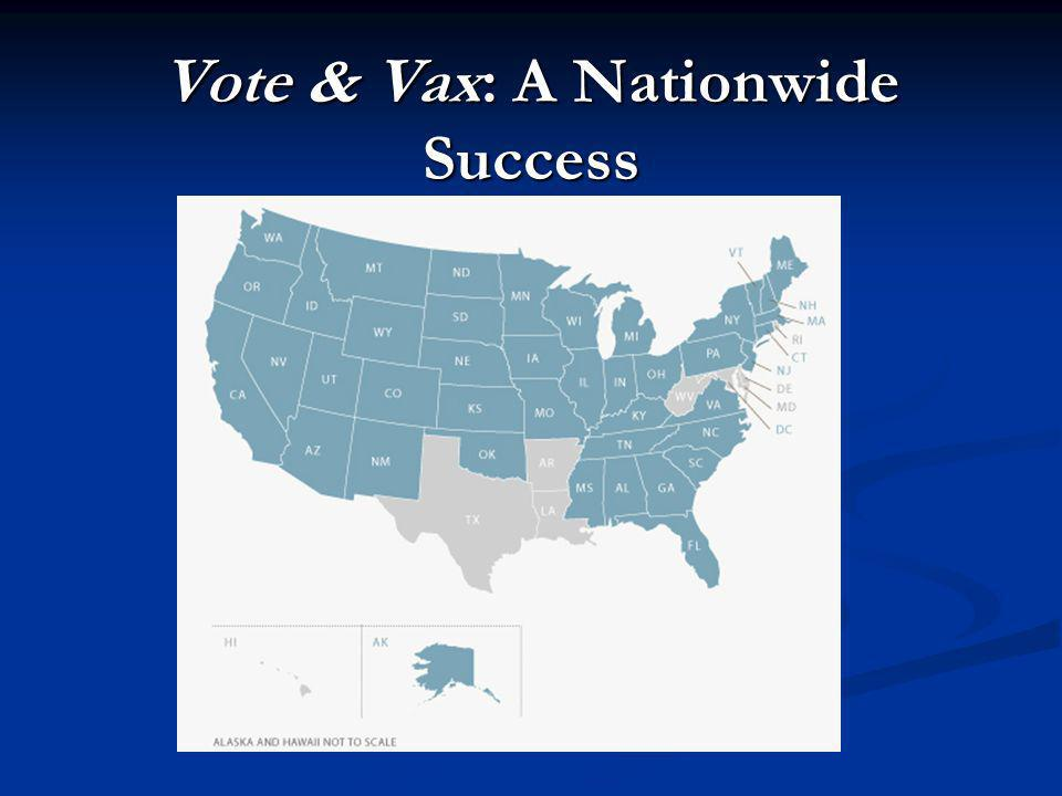 Vote & Vax: A Nationwide Success