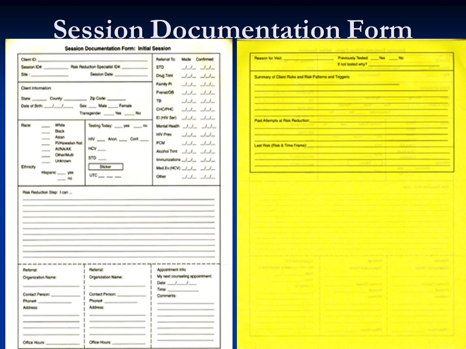 Session Documentation Form