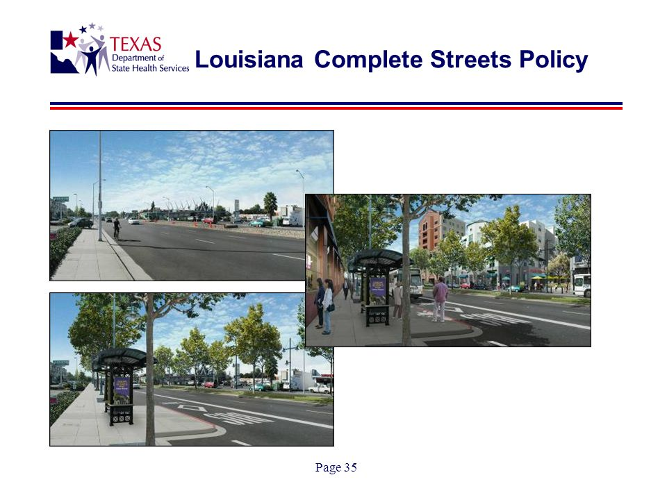 Page 35 Louisiana Complete Streets Policy