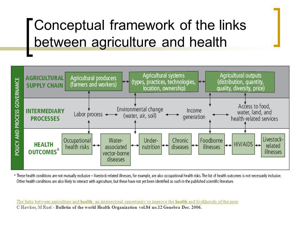 The links between agriculture and health: an intersectoral opportunity to improve the health and livelihoods of the poor C Hawkes, M Ruel - Bulletin o