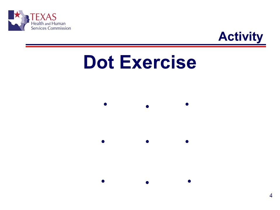 4 Activity Dot Exercise
