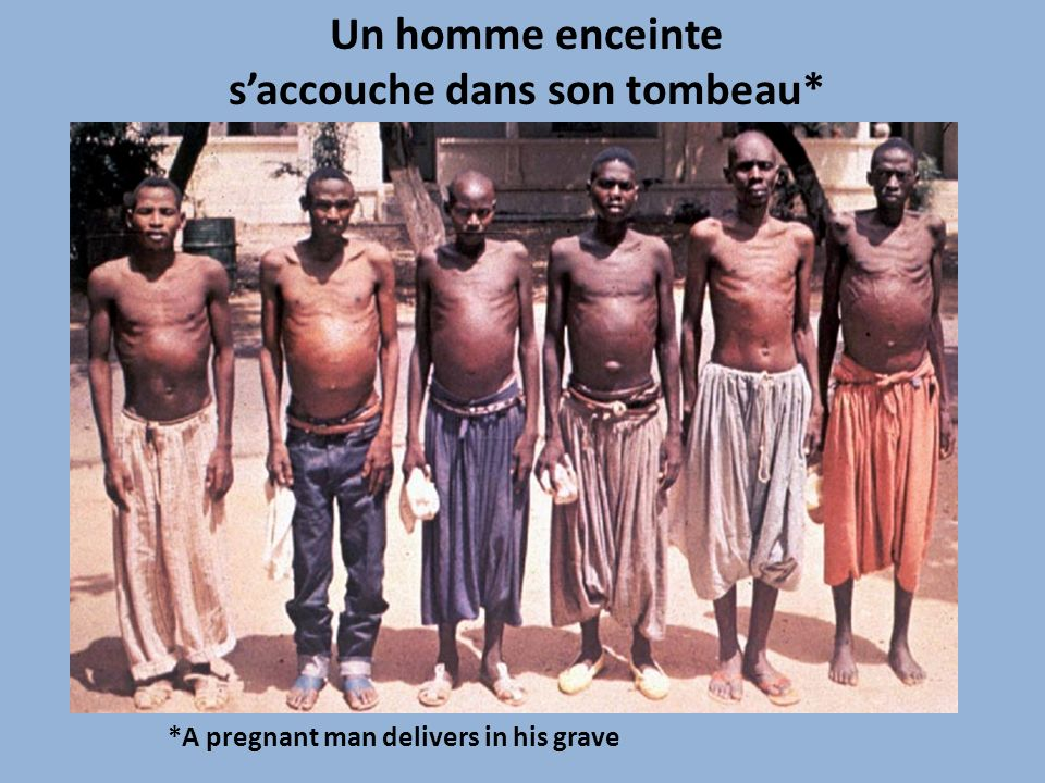 Un homme enceinte saccouche dans son tombeau* *A pregnant man delivers in his grave