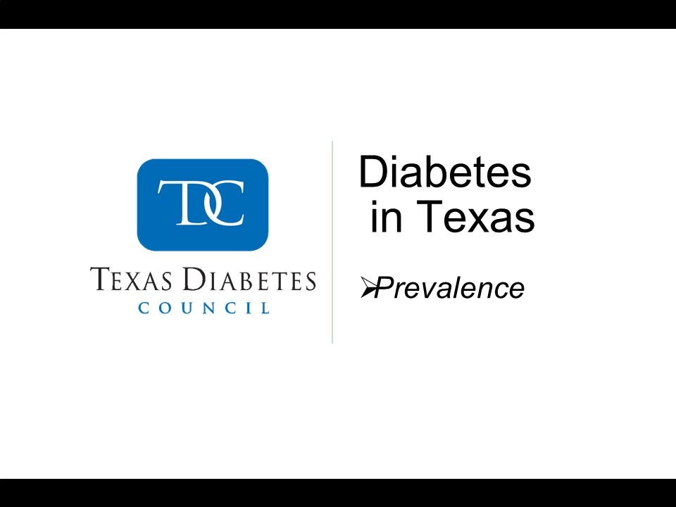 Diabetes in Texas Prevalence
