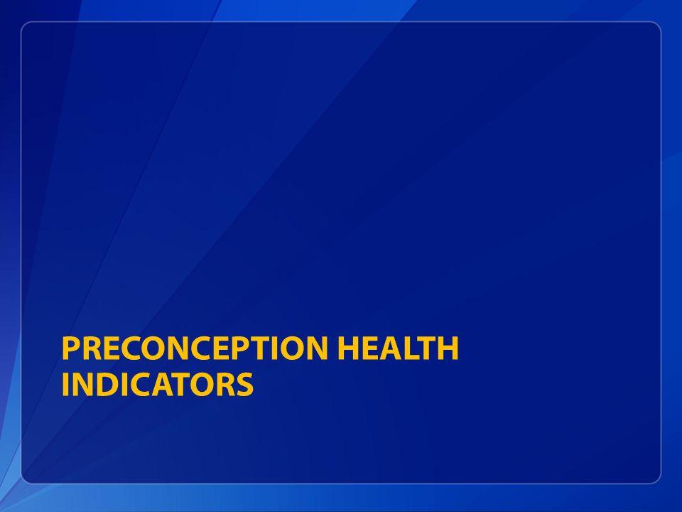 PRECONCEPTION HEALTH INDICATORS