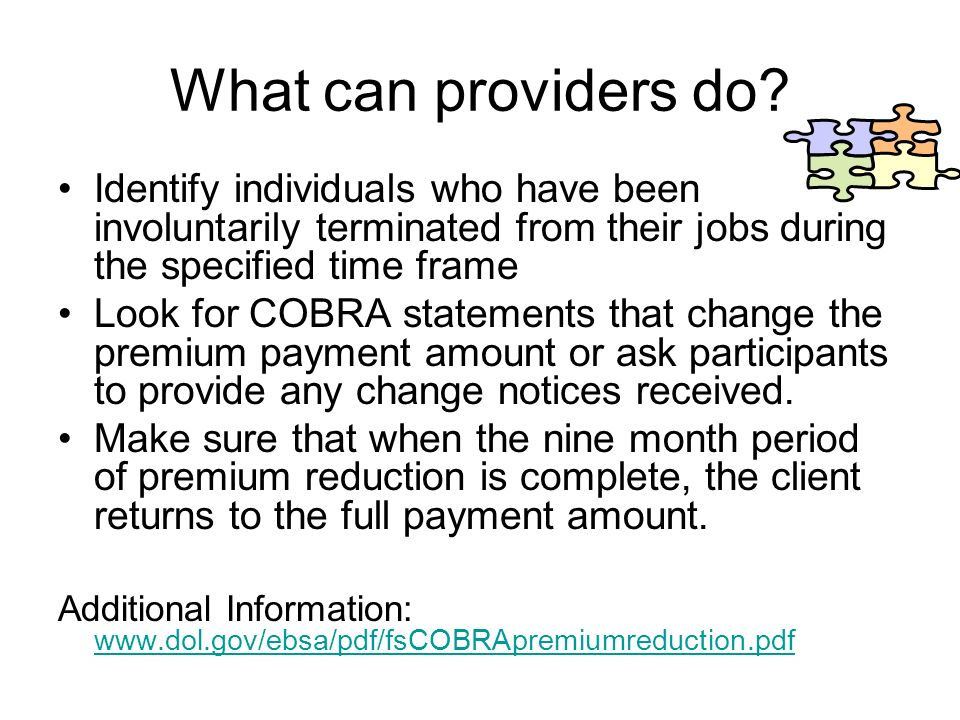 What can providers do.