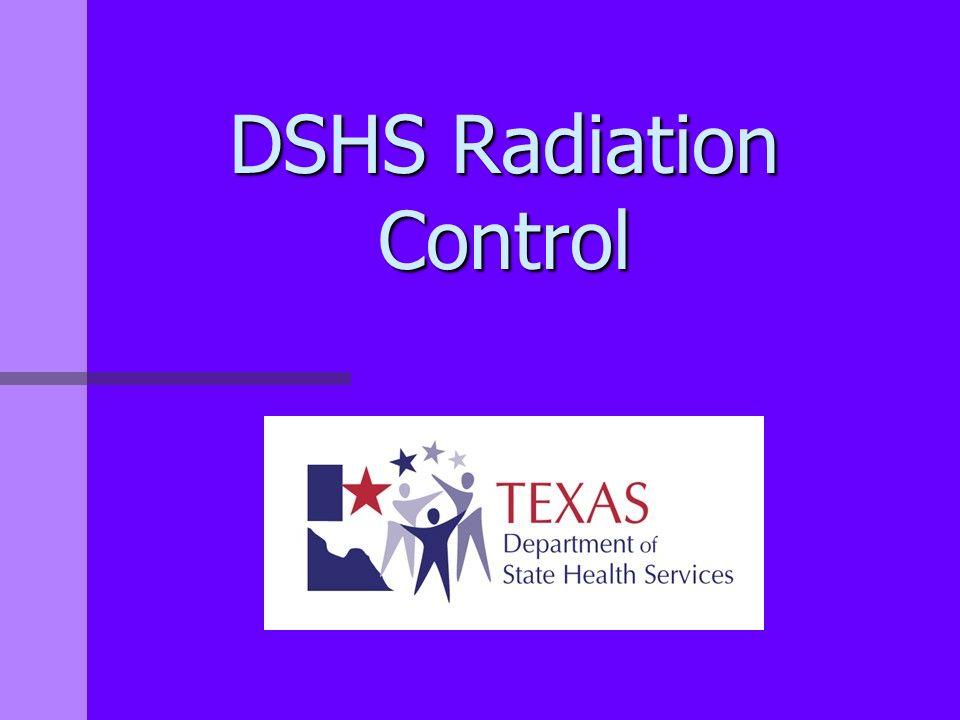 DSHS Radiation Control