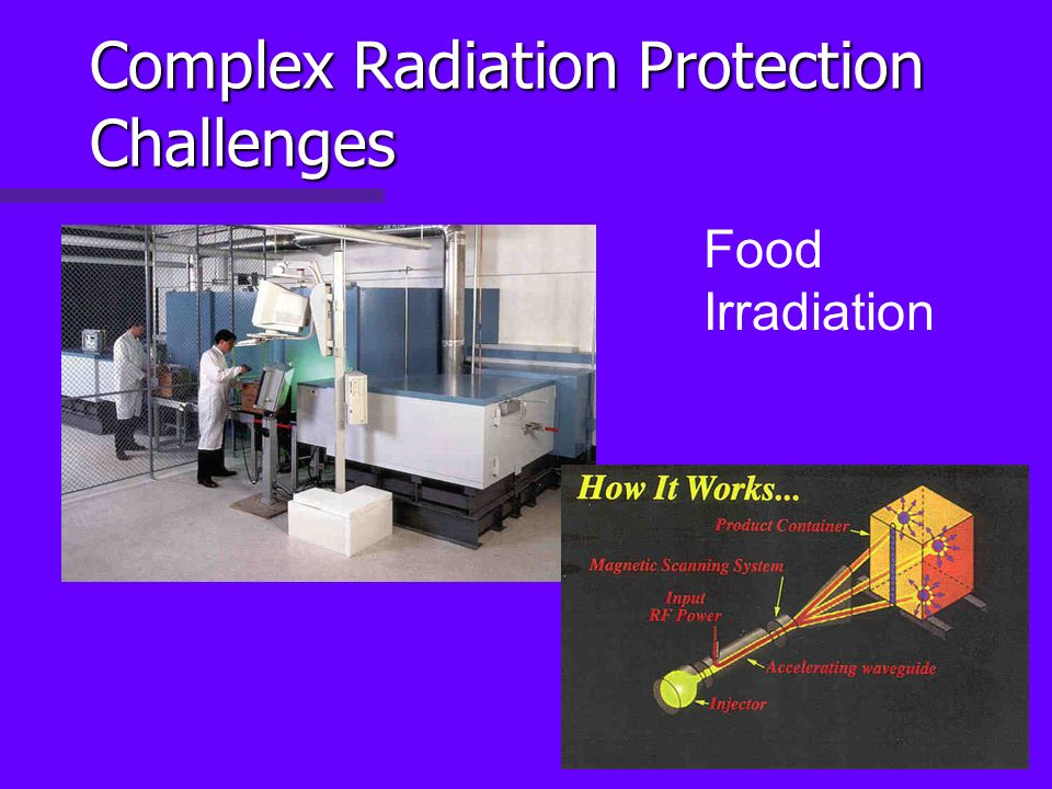 Complex Radiation Protection Challenges Food Irradiation