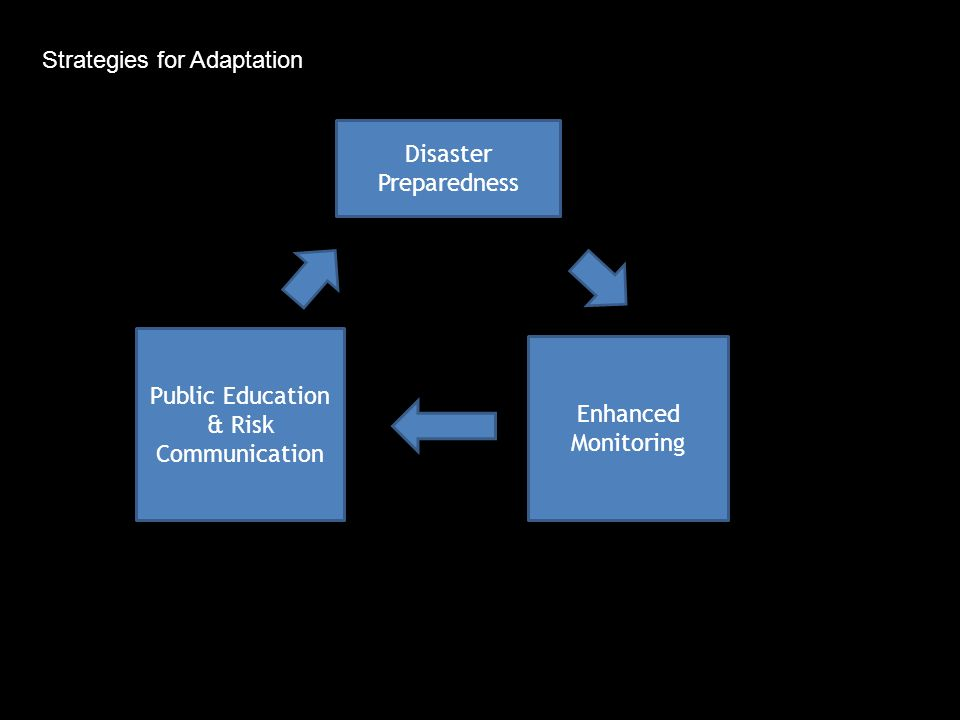 Disaster Preparedness Public Education & Risk Communication Enhanced Monitoring Strategies for Adaptation